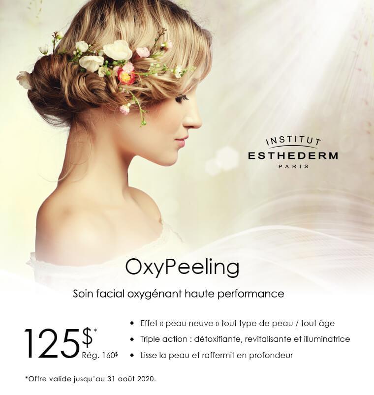 Soin facial oxygénant, peaux lisse et raffermie, Esthederm, esthétique Longueuil, Boucherville, Saint-Lambert