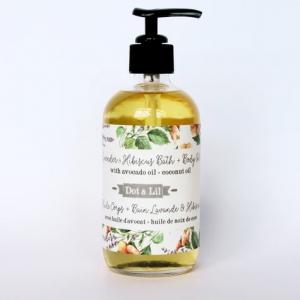 Dot & Lil - Huile pour le corps ou le bain - Lavande & hibiscus