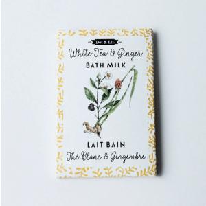 Dot & Lil - Sachet de lait de bain - Thé blanc & Gingembre