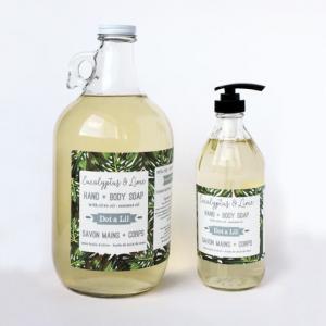 Dot & Lil - Savon main + corps - Eucalyptus & lime