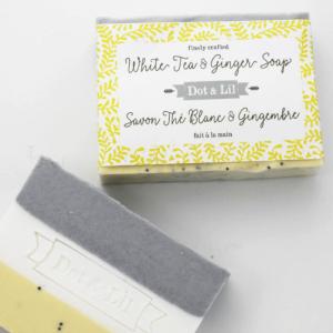 Dot & Lil - Savon Thé blanc et gingembre