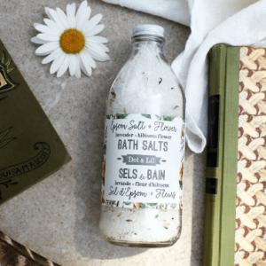 Dot & Lil - Sels de bain lavande & hibiscus