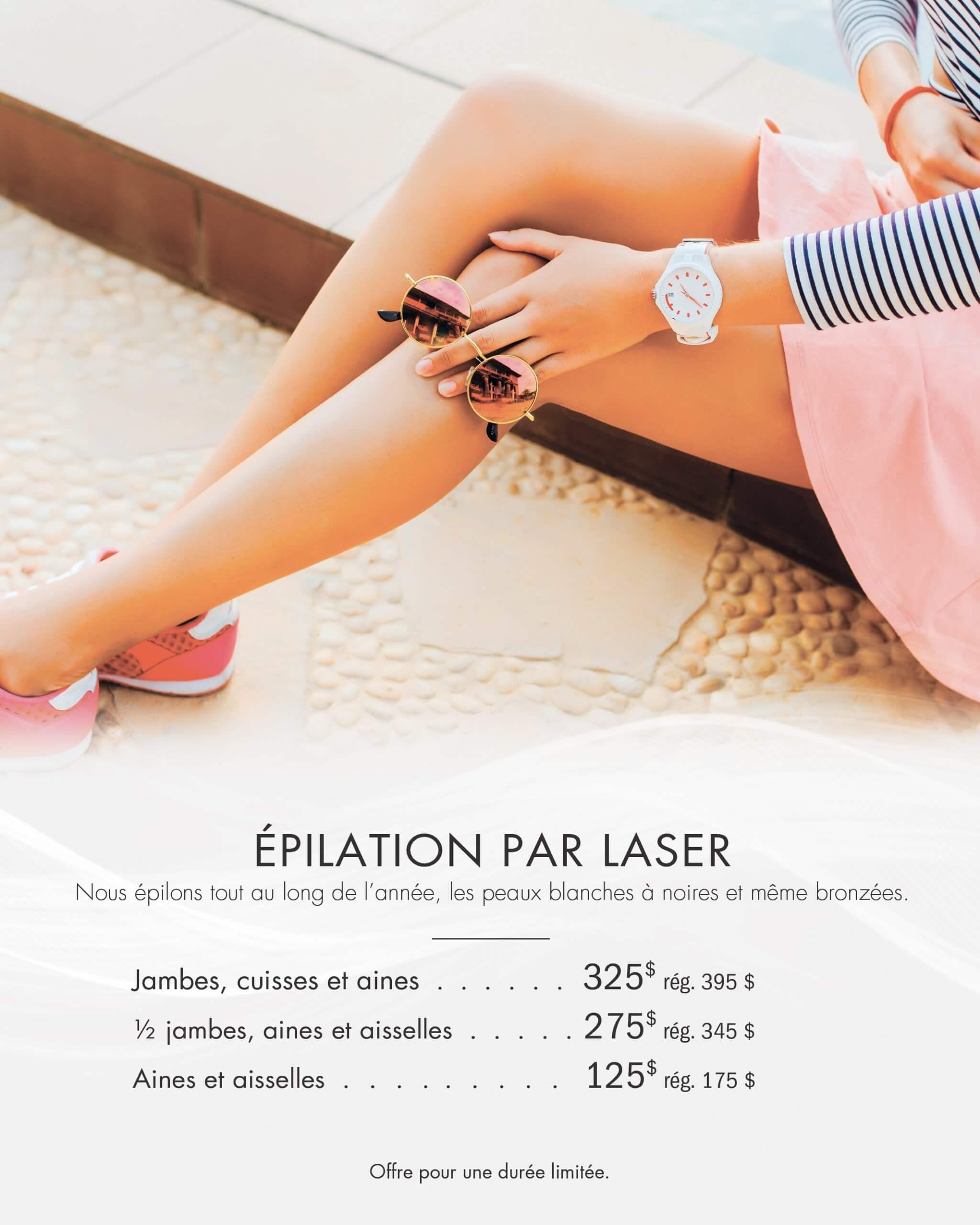 Promotion épilation laser | esthéticienne Longueuil